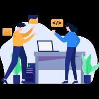 ilustracion sobre programa de gestion para empresas y pymes